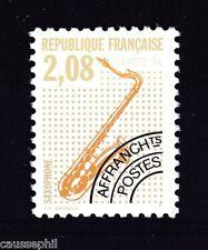 es - FRANCE Préos n°215a Saxophone 1992 dentelé 12, **, RARE