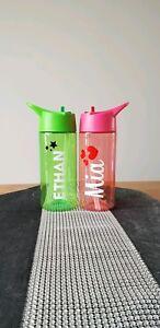 Personalised Kids Water Bottle 400ml Drinks Bottle School Holiday Party BPA Free