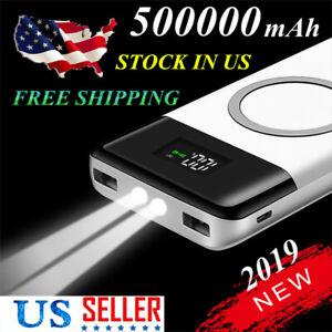 Wireless-External-Battery-500000mAh-Power-Bank-2-USB-Charger-Top-Configuration