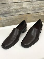 Trotters Womens Ash Brown Square Toe Loafers Shoes 6 1/2 Narrow