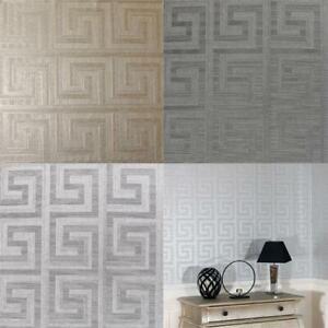 Arthouse-Greek-Key-Luxury-Foil-Shimmer-Metallic-Textured-Wallpaper