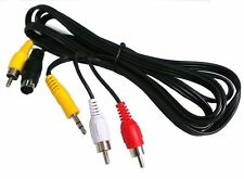7 Pin S-Video Male to 3 RCA Male Cable (5ft)