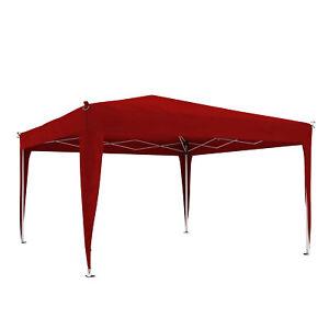 Faltpavillon-Partyzelt-Pavillon-Gartenzelt-Faltzelt-bordeaux-Premium-3x3m-B-Ware