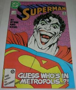 560aa209144b SUPERMAN  9 (DC Comics 1987) JOKER appearance (VF-) John Byrne story ...
