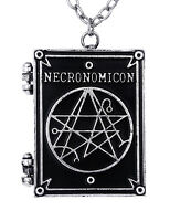Restyle Necronomicon Book Shaped Locket Necklace Gothic Witchy Occult Pendant