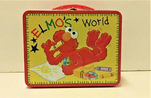 Sesame Street ELMO'S WORLD Tin Metal Lunch Box