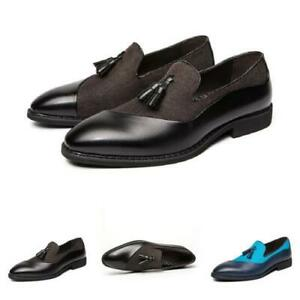 Details about  /Large Size Mens Business Leisure Faux Leather Shoes Tassels Oxfords Nightclub L