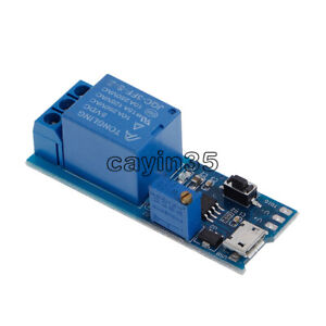 Micro USB Power Supply Module 5V~30V Delay Relay Timer Trigger Control Switch
