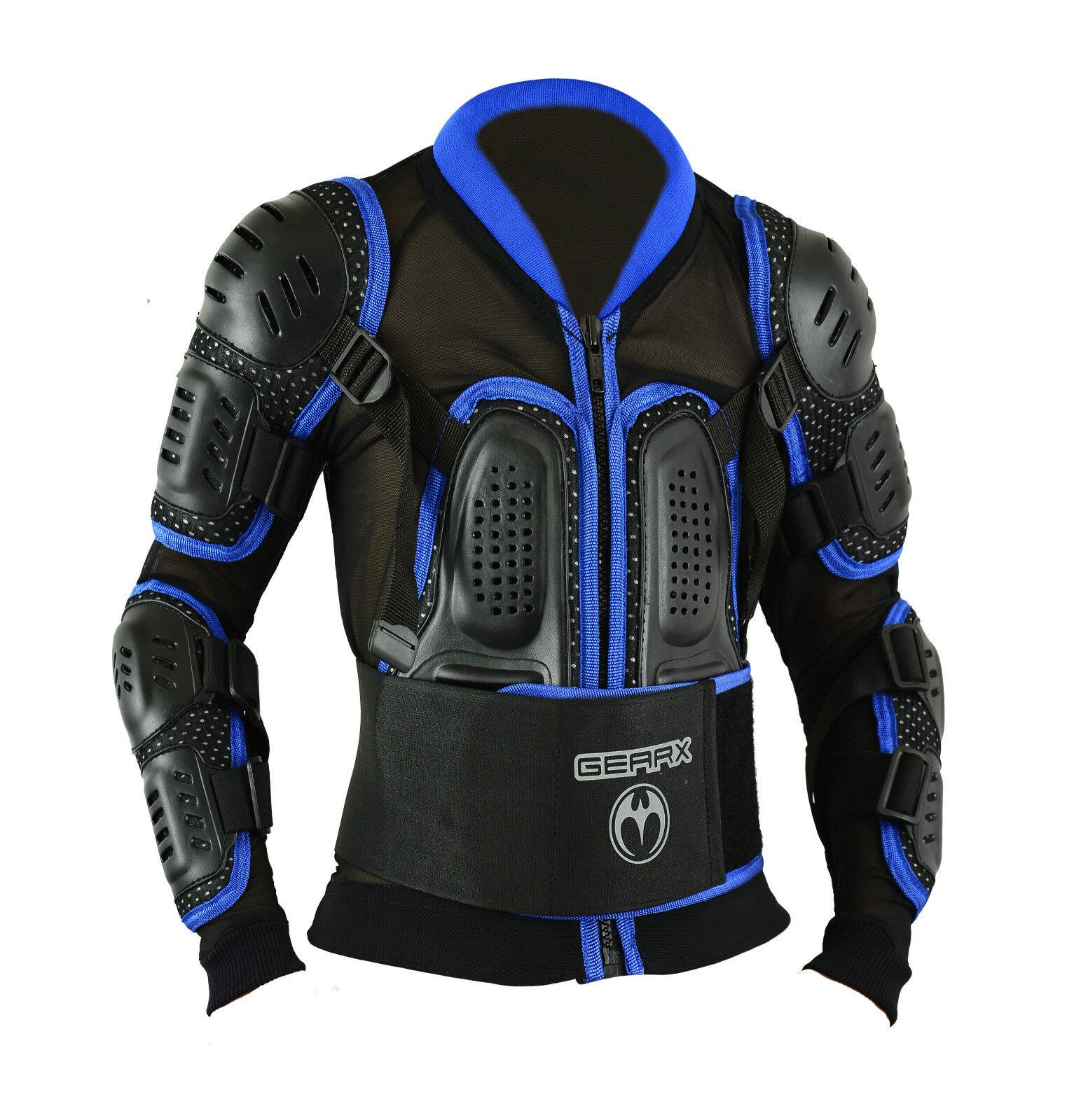 Bambini Blu Blu Blu Motocross Armatura Bambini Giovanile Spina Protezione Giacca 7f62a5
