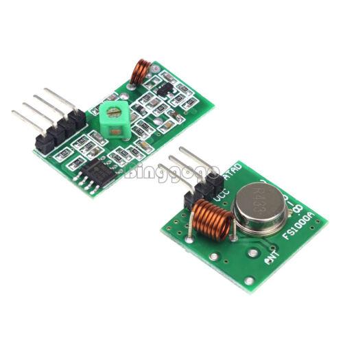 433Mhz RF Transmitter Receiver Wireless Transmitter /& Receiver Module Arduino