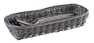 Besteckbehälter GN 1//1 schwarz-braun geflochten 53 x 32,5 x 9 cm Gastlando