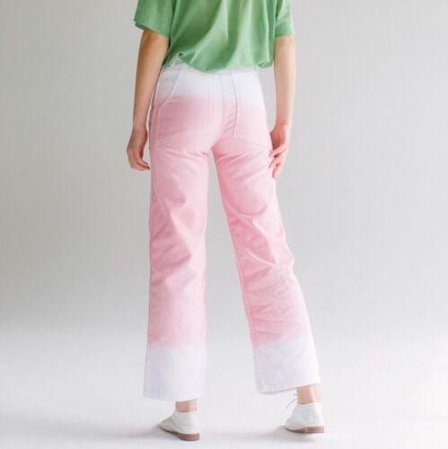 Eckhaus Latta Dip Dye Wide Leg Jeans