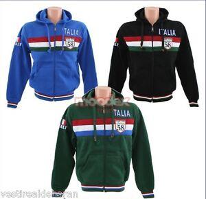 Felpa-Uomo-con-Cappuccio-BLUMEN-034-Italia-034-A730-Tg-M-L-XL-XXL