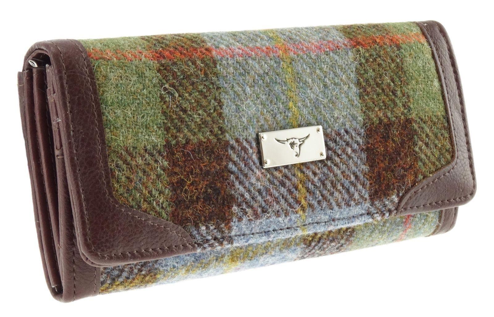 Ladies Authentic Harris Tweed Long Purse Gunn Tartan LB2000 COL 15