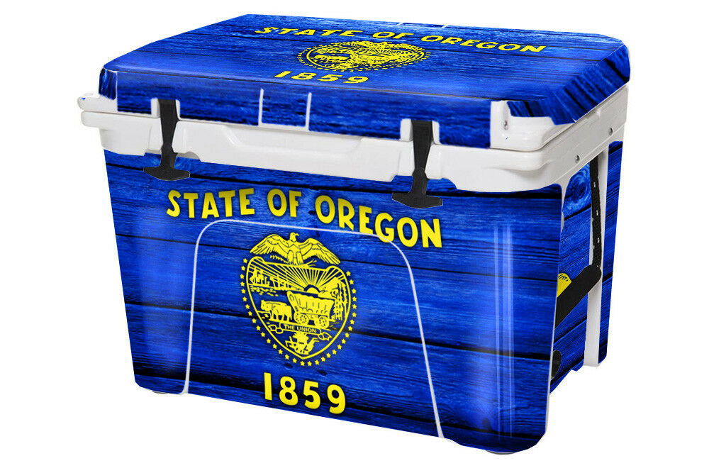 USATuff Cooler Wrap Decal fits YETI Tundra 50qt FULL Oregon Flag WD