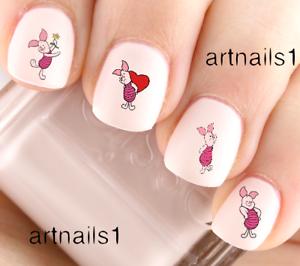 Disney-Piglet-Winnie-the-Pooh-Bear-Nail-Art-Water-Stickers-Manicure-Salon-Polish