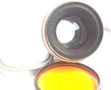 Helios 44 Silver 58mm fix F/2.0 Lens M39 mount SLR Biotar Copy + filter