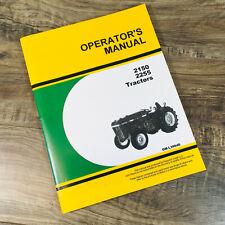 Operators Manual For John Deere 2150 2255 Tractor Owners Book Maintenance Book