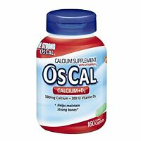 5 Pack - Oscal Calcium + D Supplement, Sodium Free, 160 Count Each on sale