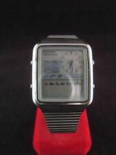 Rare Vintage SEIKO H127-500A Digital LCD Sport Mens Watch For Repairs #A369