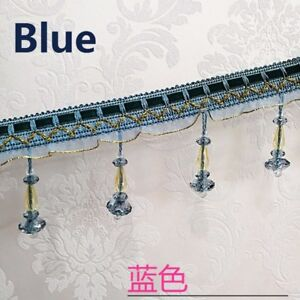Image is loading 3M-Crystal-Bead-String-Trim-Ribbon-Curtain-Decor- b9a63dffc