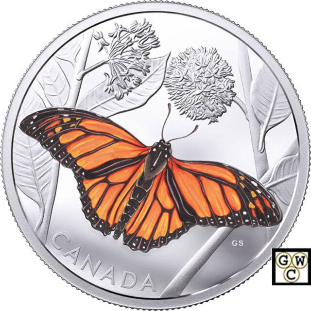 2017 'Monarch Migration' Colorized Proof $50 Silver Coin 3oz .9999 Fine (18241)