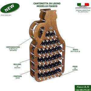 Cantinetta FIASCO noce legno vino botte cantina rovere mobile porta ...
