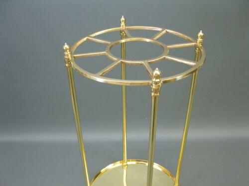 Luxus  Stockständer Gehstockständer aus massiv Messing Schirmständer golden 60cm