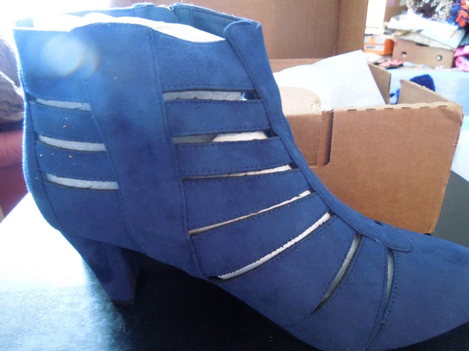 NIB - Comfortview - 12W - Dark Denim bluee bluee bluee - Sloane Bootie - Suede 33f928