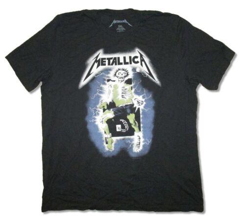 Metallica Chaise électrique noir souple T Shirt Nouveau Officiel Adulte