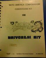 Taito EXERION Arcade Video Game Manual - good used original