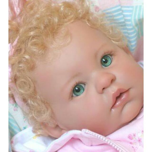 ~KeMpEr SuSiE SyNtHeTiC  MoHaiR WiG LiGhT BrOwN 14/15 FoR ReBoRn DoLL~