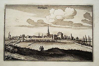 Uerdingen Krefeld Rhein Merian Kupferstich Erstausgabe 1646 Feines Handwerk