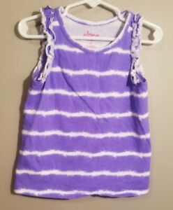 3bc53e7ffb87b Details about Circo Toddler Girls Striped Purple and White Tank Top Size 5T  Tie Dye