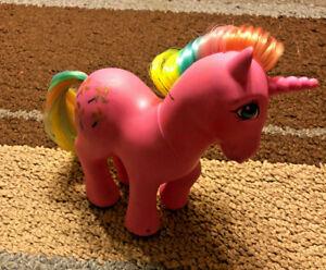 Vintage G1 My Little Pony Rainbow Ponies Unicorn Pinwheel Ebay
