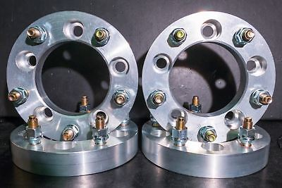 "5x150 to 5x139.7 Wheel Adapters 1/"" Thick 14x1.5 Studs x 2 Hubs 5x150 to 5x5.5"
