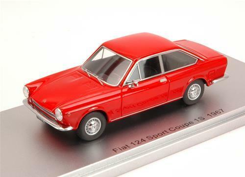 Fiat 124 Sport Coupe' 1S 1967 rojo Ed.Lim.Pcs 250 1 43 Kess Model KS43010110 Mini