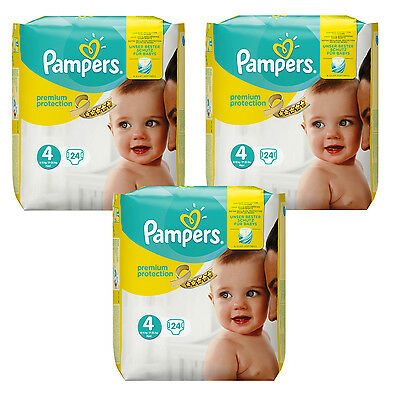 Nappies Baby Constructive 3 X 24=72 Pieces Pampers Premium Protection Diaper Größe 4 Maxi 8-16kg Baby Nourishing The Kidneys Relieving Rheumatism