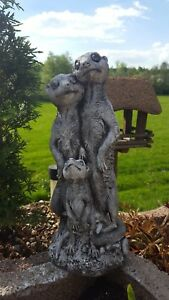 Erdmaennchen-Familie-Figur-Gartenfigur-F0132