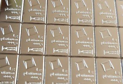 Expressief 1 Gram (1g) 999.5 Fine Platinum Valcambi Swiss Bullion Bar (not Gold Or Silver) Groot Assortiment