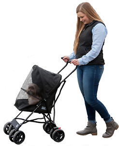Pet Gear Ultra Lite Travel Stroller Compact, Large Wheels ...