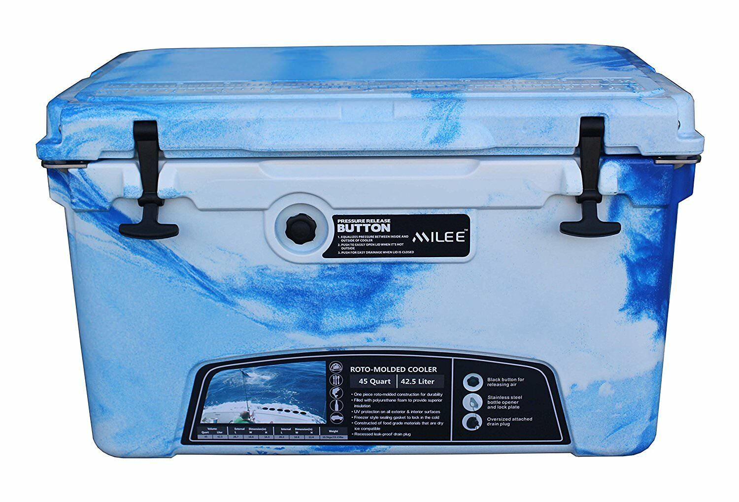 MILEE  Heavy Duty Cooler 45 QT, Include  45 Accessories Basket Cup Holder Divider  outlet online