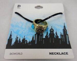 New-DC-Comics-Wonder-Woman-Class-Ring-Pendant-On-Black-Cord-Necklace-Set