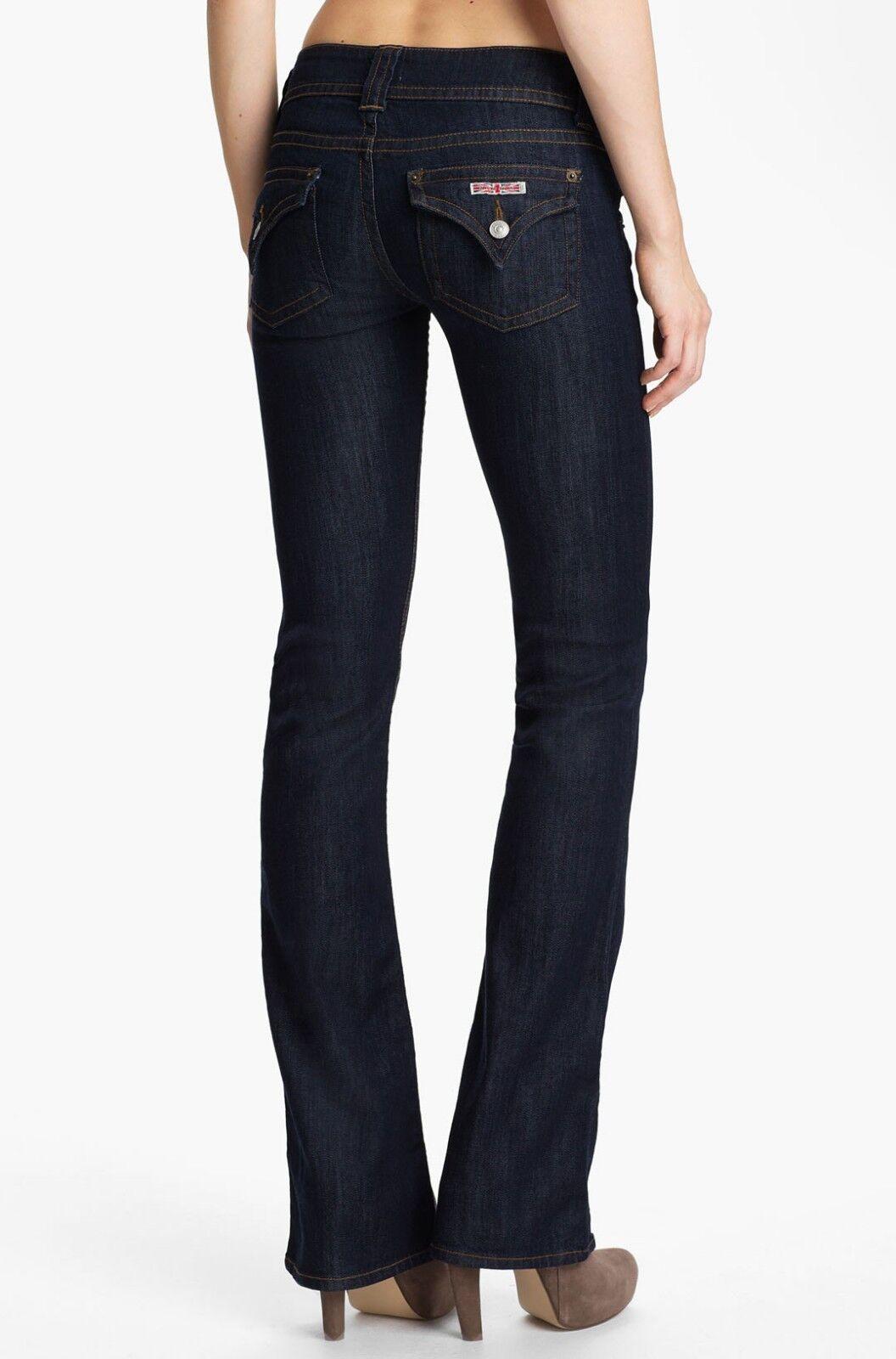 NWT HUDSON FINCH Signature Boot Cut Jeans 29 BRAND NEW DARK blueE DENIM  W170DGC