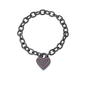2JEWELS-Bracciale-donna-231148-acciaio-charms-cuore-brillantini-nero-originale