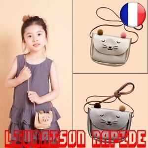 Sac-Mini-Mignon-Chat-Oreille-Bandouliere-Enfants-Baby-Porte-Monnaie-Petite-Fille