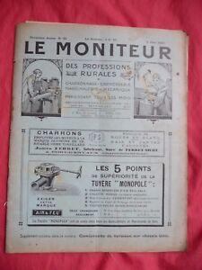 Le Moniteur Des Professions Rurales 1925 Charronnage Mécanique Camionette Unic Jrvyvtkp-07163826-686685786
