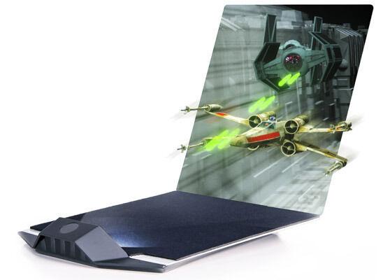 Nuevo Star Wars Hologramas 3D de estrella de la muerte batalla con Luz Pantalla-Zebra imagen