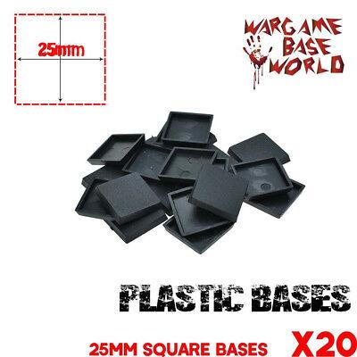 20pcsx 25mm Square Plastic Base Model Bases for Gaming Miniatures Wargames