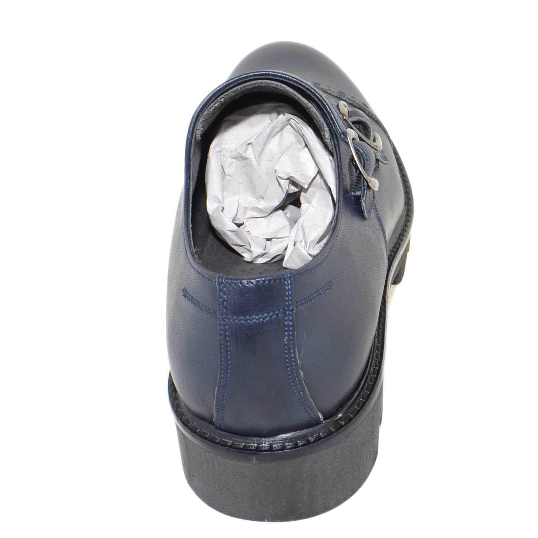 Calzature   art 9677 pelle doppia fibbia vera pelle 9677 crust blu fondo imperial antisc 50ff08